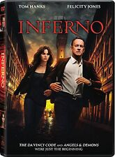 Inferno (DVD 2016) NEW* TOM HANK Action,Mystery, Crime* FAST SHIPPING !