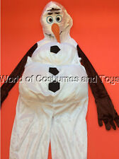 Disney Frozen Olaf Costume Dress Up All In One Complete Outfit age 3/4 years