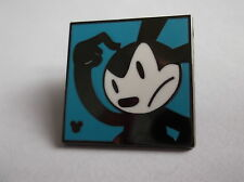 Disney's Oswald The Lucky Rabbit Turquoise Background Hidden Mickey Pin Badge