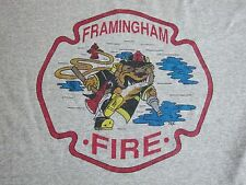 Vintage Framingham Firefighters Fire Department Fighters FFD Mass, T Shirt M