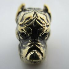 Pitbull Ultras Lanyard Paracord/Leather Bead in Brass by Ivan Karboffos