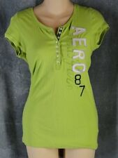 Aeropostale Large Lime Green Short Sleeve Shirt Aero Top Tee