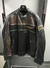 Harley Davidson Mens Reflective Leather Jacket Sz. Large 97032-15VM