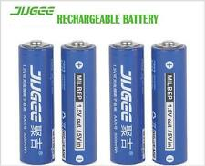 4pcs/lot JUGEE 1.5v AA 3000mah LI-polymer li-ion lithium rechargeable batteries