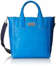 Marc by Marc Jacobs Mility Italian Leather Utility Tote Shoulder Bag Blue $478