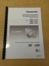 PANASONIC LUMIX TZ30 TZ31 TZ27 USER MANUAL INSTRUCTIONS PRINTED 197 PAGES A5