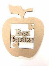 Best Teacher Apple Gift Present Thank You, Blank MDF Craft shape