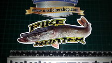 Pike Hunter Fishing Sticker, Full Colour Bait, Lure, Angling, Crafty Crew Coarse