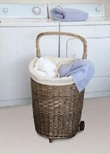 Helman WLC-910 Willow Divided Laundry Cart. Very Nice Hamper. Large Laundry Bin.