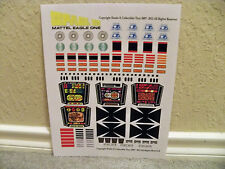 SPACE 1999 EAGLE ONE NEW VERSION STICKERS LASER MATTEL 1976