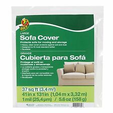 """Duck Brand 1139735 Sofa Cover, Large, 41"""" X 131"""", Clear"""