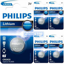 5 x Philips CR2025 3V Lithium Button Battery Coin Cell DL2025 for Car Key Fobs