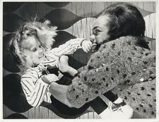 EARTHA KITT-ORIGINAL PHOTO-CANDID WITH DAUGHTER