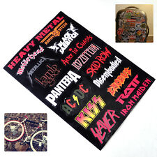 Vinyl Decal Heavy Metal Metallic Band Logo Rock Music Sticker Decor Wall Laptop