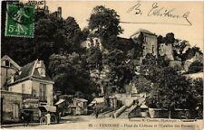 CPA Vendome - Place du Chateau et l'Escalier des Ruines (253386)