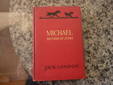 Michael Brother of Jerry by Jack London. First printing 1917