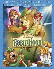 ROBIN HOOD New Sealed Blu-ray + DVD 40th Anniversary Edition Disney