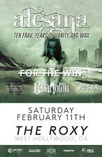 """ALESANA """"TEN FRAIL YEARS OF VANITY AND WAX"""" 2017 LOS ANGELES CONCERT TOUR POSTER"""