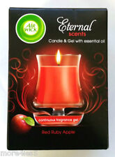 Airwick Eternal Scents Red Ruby Apple With Essential Oil Fragranced Candle