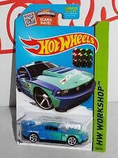Hot Wheels Factory Set 2015 Drift Race #240 Custom `12 Ford Mustang Blue FALKEN