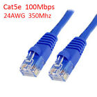 100Ft Cat5e UTP RJ45 8P8C 24AWG 350Mhz 100Mbps LAN Ethernet Network Patch Cable