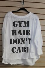NEW WOMENS PLUS SIZE 3X GYM HAIR DON'T CARE SURPLICE BACK EXERCISE SHIRT TOP