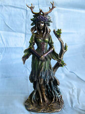 LADY OF THE FOREST GODDESS God ORNAMENT STATUE Figure PAGAN Wiccan Occult BNIB