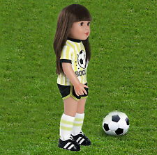 "Adora 18"" FRIENDS SOCCER OUTFIT Doll American Girl Sock Jersey Shorts Cleats NEW"