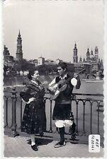 POSTAL ZARAGOZA: Pareja Baturra en el Puente del Pilar. Ref:00161