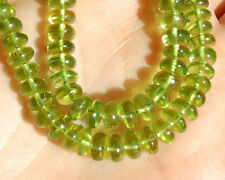 AAA Natural Peridot Smooth Plain Rondelle Beads 6mm. (10PCS)