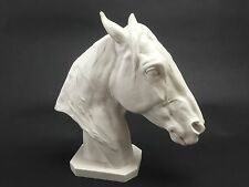 Stunning Thoroughbred Horse Head Carrara Marble Sculpture Horse Lovers gift