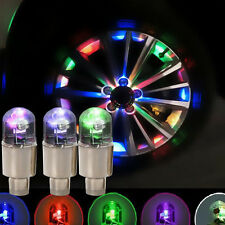 4Pcs Multicolour Car Cycling Bike LED Neon Wheel Valve Tyre Tire Cap Dust Lights