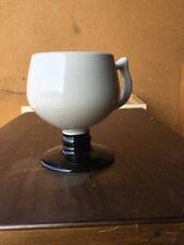 Hall Pottery Irish Coffee White With Black Pedestal Cup