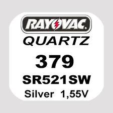 3x Rayovac SWISS MADE Uhren Batterie Knopfzelle 379/SR521SW AG0 1,55V Blister