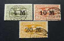 "GERMANIA,GERMANY D.REICH PLEBISCITO 1922 ""VEDUTE OVP"" 3V.Set Cpl USED"