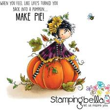 New Stamping Bella Cling Rubber Stamps halloween TINY Tow PATRICIA LOVE PUMPKINS