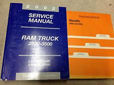 2002 Dodge Ram Truck DIESEL 2500 3500 Service Shop Repair Manual Set FACTORY