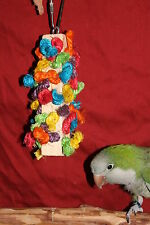 """Wood and Sisal Rope for Small Parrots #JK109,  2"""" L x 7"""" H, Chewing toys,"""