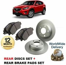 FOR MAZDA CX5 2.0 2.2 DT 2011-- ON REAR BRAKE DISCS SET + DISC PADS KIT
