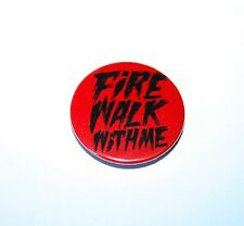 TWIN PEAKS FIRE WALK WITH ME RED BUTTON PIN BADGE FILM TV