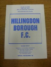 08/01/1977 Hillingdon Borough V nuneaton BOROUGH SQUADRA (cambia). piedini progs/Bo
