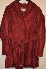 LADIES M&S PER UNA BELTED MAC / JACKET SIZE 18 UNPADDED - RED BNWT