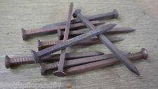 "10 x 3 1/2"" 90mm LONG SOLID COPPER SQUARE SHAFT NAILS BOAT TREE STUMP KILLER"