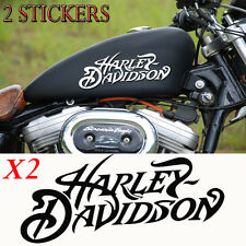 2 stickers autocollant harley-davidson sportster skull iron pour reservoir moto.