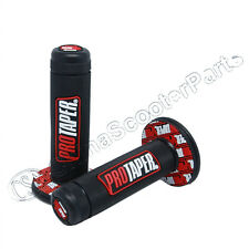 "Red Pro Taper 7/8"" Grip Hand Throttle Grips Handle Bar ATV Dirt Pit Bike Scooter"