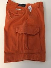 NWT POLO RALPH LAUREN MENS CARGO GELLAR FATIGUE CHINO SHORTS BURNT ORANGE 36