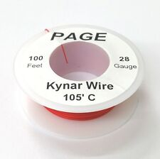 100' Page 30AWG RED KYNAR Insulated Wire Wrap Wire 100 Foot Roll ~ Made In USA