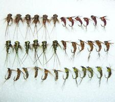 36 Artflies Micro Nymph Flies - Pheasant Tail, Bead Thorax, #16, #18. [MN36]