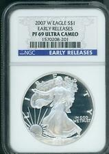2007-W American Silver Eagle ASE  NGC PF69 PR69 PROOF Early Releases E.R. !