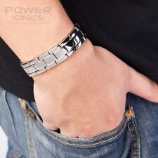 New Power Ionics Mens Multifunctional FIR Germanium Magnetic Ions Bracelet 15mm